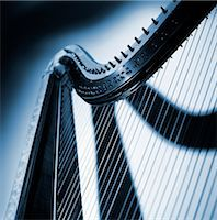 A part of a harp, close-up. Stock Photo - Premium Royalty-Freenull, Code: 6102-03748485