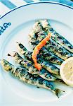 A plate of grilled fish. Stock Photo - Premium Royalty-Free, Artist: Photocuisine, Code: 6102-03750955