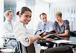 Business people working together in conference room Stock Photo - Premium Royalty-Freenull, Code: 635-03752379