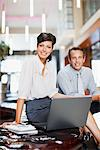 Business people working together in hotel lobby Stock Photo - Premium Royalty-Freenull, Code: 635-03752660
