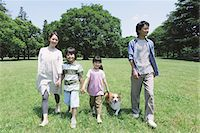 Japanese Family Having Fun In a Park Stock Photo - Premium Rights-Managednull, Code: 859-03755354