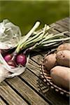 Rustic Red rocket Onions and Red Potatoes Stock Photo - Premium Royalty-Free, Artist: IIC, Code: 618-03757833