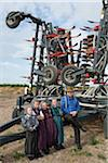 Hutterite Family in front of Farm Machinery at Silver Sage Colony, near Etzikom, Southern Alberta, Canada Stock Photo - Premium Rights-Managed, Artist: Moritz Schönberg, Code: 700-03762374