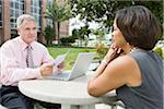 Business People Working Outdoors Stock Photo - Premium Rights-Managed, Artist: Kevin Dodge, Code: 700-03762665
