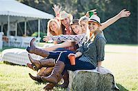 Group of Teenage Girls Being Silly Stock Photo - Premium Rights-Managednull, Code: 700-03762681