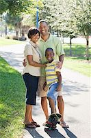 Portrait of Family in Park Stock Photo - Premium Rights-Managednull, Code: 700-03762716