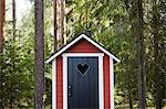 Outhouse in forest Stock Photo - Premium Royalty-Free, Artist: Science Faction, Code: 649-03769662