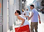 Young couple shopping Stock Photo - Premium Royalty-Free, Artist: Beyond Fotomedia, Code: 649-03769818