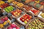 Various fruits presented on a market Stock Photo - Premium Royalty-Free, Artist: foodanddrinkphotos, Code: 649-03771919