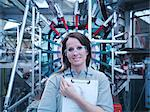 Scientist with particle accelerator Stock Photo - Premium Royalty-Free, Artist: Andrew Douglas, Code: 649-03771993