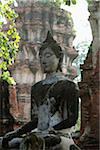 Stone Buddha at Ayutthaya, Thailand Stock Photo - Premium Rights-Managed, Artist: Asia Images, Code: 849-03775716