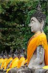 Side view of stone Buddhas at Wat Yai Chaya Mongkol Temple, Thailand Stock Photo - Premium Rights-Managed, Artist: Asia Images, Code: 849-03775757