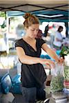 Woman Bagging Green Beans at Farmer's Market Stock Photo - Premium Rights-Managed, Artist: Ron Fehling, Code: 700-03777184