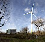 Wind Turbine, Green Park, Reading, 2005. Architects: Sir Norman Foster Stock Photo - Premium Rights-Managed, Artist: Arcaid, Code: 845-03777216