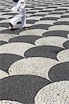 Madeira. Black and white tessalated mosaic pavement Stock Photo - Premium Rights-Managed, Artist: Arcaid, Code: 845-03777423