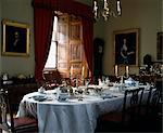 The Georgian House Museum, Edinburgh, 1796. Dining room laid for dinner. Stock Photo - Premium Rights-Managed, Artist: Arcaid, Code: 845-03777707
