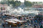 Crowds at Djemaa el Fna, Marrakech, Morocco