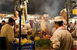 Cooks Selling Food at Djemaa el Fna, Marrakech, Morocco