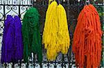 Freshly Dyed Wool Drying, The Dyers Souks, Medina, Marrakesh, Morocco