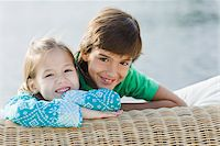 Portrait of Brother and Sister Outdoors Stock Photo - Premium Rights-Managednull, Code: 700-03778633