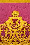 Ornate iron gate Stock Photo - Premium Royalty-Free, Artist: Glowimages               , Code: 632-03779277