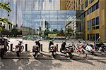 Germany, Berlin, mopeds parked in front of Axel Springer publishing house Stock Photo - Premium Royalty-Free, Artist: Eyecandy Pro, Code: 632-03779375