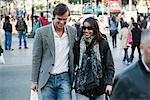 Couple walking on busy street Stock Photo - Premium Royalty-Free, Artist: Cusp and Flirt, Code: 632-03779659