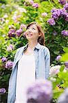 Young Woman Standing And Looking Up In Garden Stock Photo - Premium Rights-Managed, Artist: Aflo Relax, Code: 859-03779844