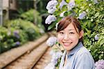 Young Woman Near Railway Track Stock Photo - Premium Rights-Managed, Artist: Aflo Relax, Code: 859-03779860