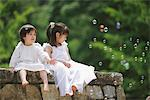 Children Playing with Bubbles Stock Photo - Premium Rights-Managed, Artist: Aflo Relax, Code: 859-03781946