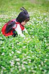 Boy Dressed as Ladybird Sitting in Field Stock Photo - Premium Rights-Managed, Artist: Aflo Relax, Code: 859-03781965