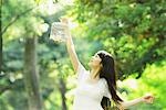 Young Woman Holding Birdcage in Forest Stock Photo - Premium Rights-Managed, Artist: Aflo Relax, Code: 859-03782212