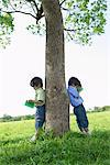 Twins Studying in Park Stock Photo - Premium Rights-Managed, Artist: Aflo Relax, Code: 859-03782423
