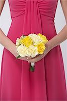 special moment - Close-up of Bridesmaid holding Bouquet Stock Photo - Premium Royalty-Freenull, Code: 600-03783419