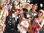 Freshly married couple kissing Stock Photo - Premium Royalty-Freenull, Code: 649-03796605