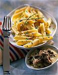 Penne with tuna and caper sauce Stock Photo - Premium Royalty-Free, Artist: Photocuisine, Code: 652-03801143