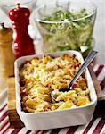 Macaronis,diced bacon and mozzarella gratin Stock Photo - Premium Royalty-Free, Artist: Steve Prezant, Code: 652-03801215