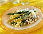 Green and white asparagus and artichoke salad Stock Photo - Premium Royalty-Free, Artist: Susan Findlay            , Code: 652-03801347