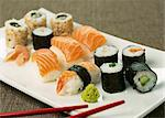 Assorted Makis and Sushis Stock Photo - Premium Royalty-Free, Artist: Photocuisine, Code: 652-03801779