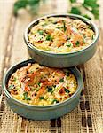 Shrimp and rice Clafoutis Stock Photo - Premium Royalty-Freenull, Code: 652-03801839