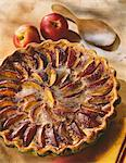 Nectarine and spice tart Stock Photo - Premium Royalty-Free, Artist: Photocuisine, Code: 652-03801875
