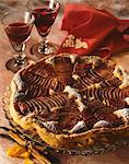 Pear and Madiran wine tart Stock Photo - Premium Royalty-Free, Artist: CulturaRM, Code: 652-03801881