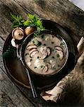 Cream of mushroom soup Stock Photo - Premium Royalty-Free, Artist: Aflo Relax, Code: 652-03801887