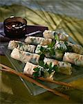 Spring rolls Stock Photo - Premium Royalty-Free, Artist: Photocuisine, Code: 652-03801923