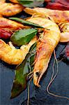 Shrimps and bay leaves a la plancha Stock Photo - Premium Royalty-Free, Artist: Photocuisine, Code: 652-03802876
