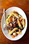 Penne, anchovy,pepper and basil fricasse Stock Photo - Premium Royalty-Free, Artist: Photocuisine, Code: 652-03802892
