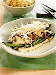 Tofu, shiitake and green bean Nituke Stock Photo - Premium Royalty-Free, Artist: Aflo Relax, Code: 652-03804965