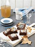 Wholemeal flour carouba and coconut vegan cake Stock Photo - Premium Royalty-Free, Artist: Photocuisine, Code: 652-03805067