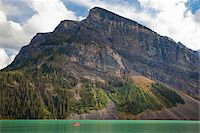 Canoeing on Lake Louise, Banff National Park, Alberta, Canada Stock Photo - Premium Royalty-Freenull, Code: 600-03805337