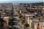 View of Judah Street Towards Ocean Beach, San Francisco, California, USA Stock Photo - Premium Rights-Managed, Artist: Damir Frkovic, Code: 700-03805327